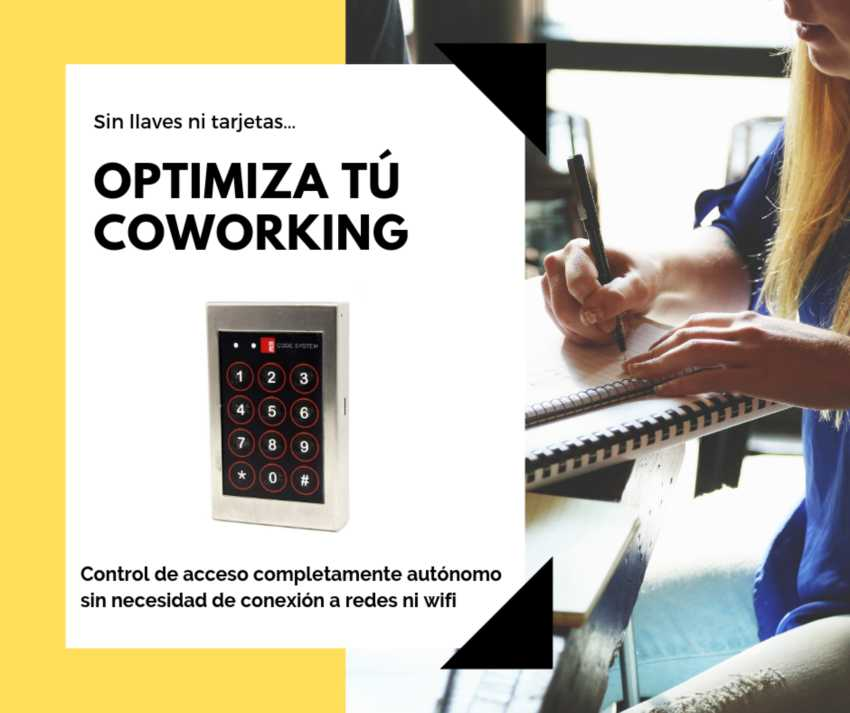 control acceso coworking